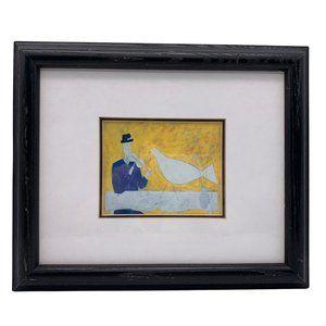 Framed White Bird By Annora Spence